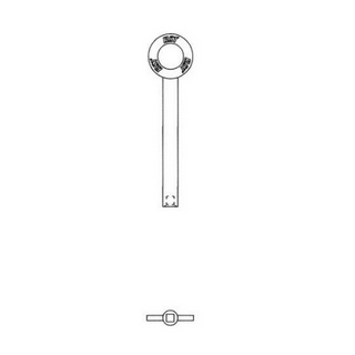 CHUBB WINDOW LOCK KEY