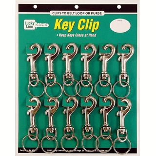 SNAP CLIP LARGE METAL   12/CARD