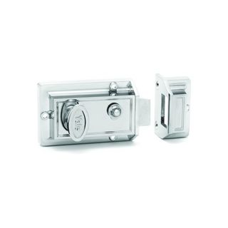 RIM NIGHTLATCH SILVER LESS CYL BOXED