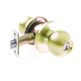ORBIT DBL/CYL LOCK 60/70mm PB BOXED