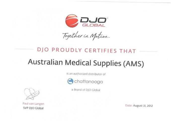 DJO Certificate