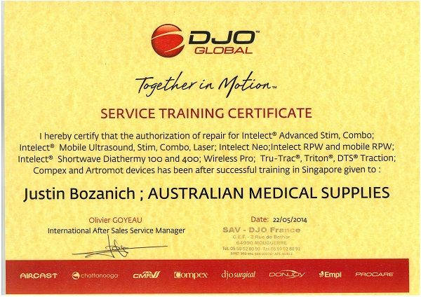 DJO Service Certificate
