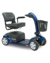 Pathrider 10 Deluxe 4 Wheel Scooter Blue