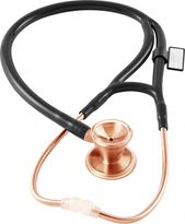 Stethoscope, Classic Cardiology Rose Gold Edition MDF with Black Tubing