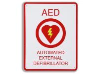 Sign, AED Flush Wall