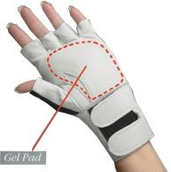 Glove, Padded with Wrist Suppo