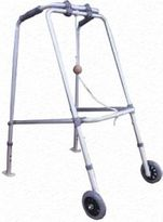 Walking Frame, Folding large with wheels and Skis