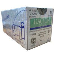 Suture, 5/0 Daclon Nylon, Black, Reverse Cutting, 3/8 circle 19mm, 45cm