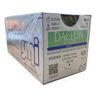 Suture, 4/0 Daclon Nylon, Blue, Reverse Cutting, 3/8 circle 19mm, 45cm