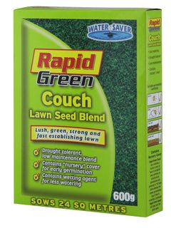 Rapid Green Couch Lawn Seed Blend 600gm