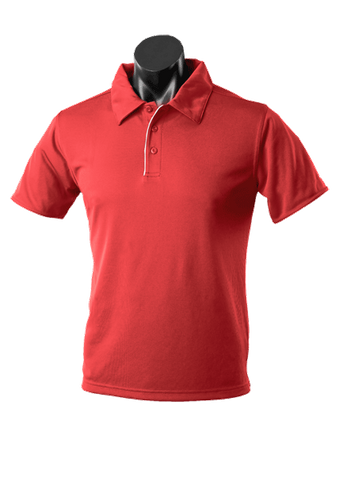 MENS YARRA POLO RED/WHITE S