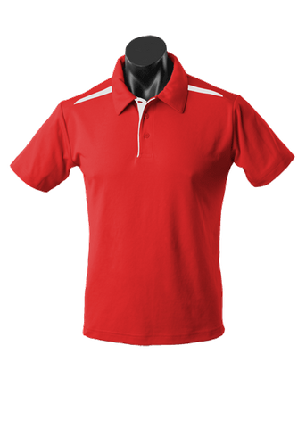 MENS PATERSON POLO RED/WHITE S