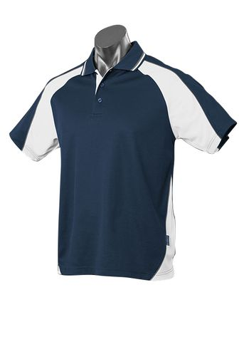 MENS PANORAMA POLO NAVY/WHITE/ASHE S