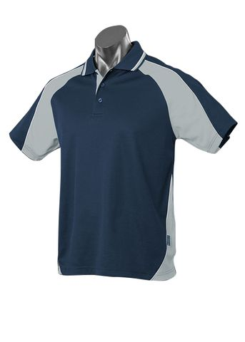 MENS PANORAMA POLO NAVY/ASHE/WHITE S
