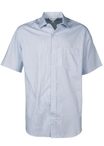 MENS HENLEY SHORT SLEEVE WHITE/NAVY XXS