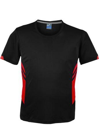 MENS TASMAN TEE BLACK/RED S