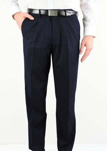 MENS PLEATED FRONT PANT NAVY 87
