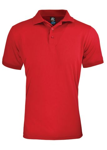 MENS LACHLAN POLO RED S
