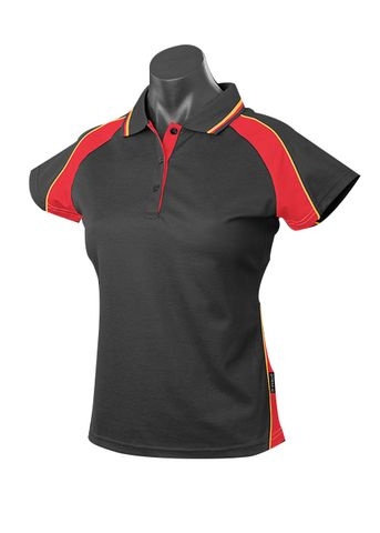 LADY PANORAMA POLO BLACK/RED/GOLD 8