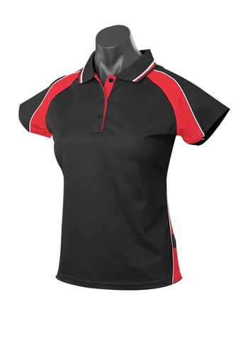 LADY PANORAMA POLO BLACK/RED/WHITE 8