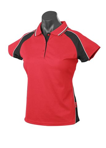 LADY PANORAMA POLO RED/BLACK/WHITE 8