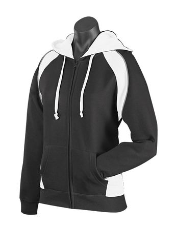 LADY PANORAMA ZIP HOOD BLACK/WHITE/ASHE 8