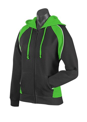 LADY PANORAMA ZIP HOOD BLACK/GREEN/WHITE 8