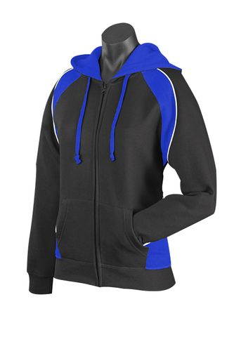 LADY PANORAMA ZIP HOOD BLACK/ROYAL/WHITE 8