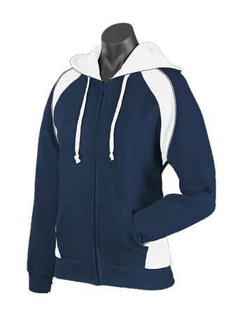 LADY PANORAMA ZIP HOOD NAVY/WHITE/ASHE 8