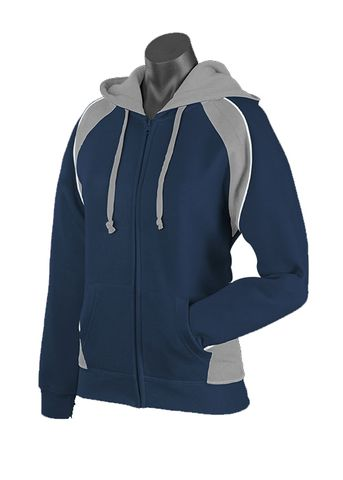 LADY PANORAMA ZIP HOOD NAVY/ASH/WHITE 8