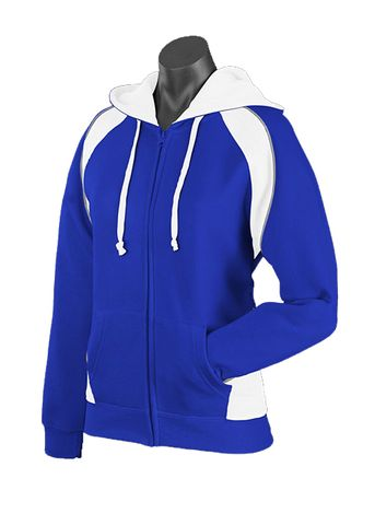 LADY PANORAMA ZIP HOOD ROYAL/WHITE/ASHE 8