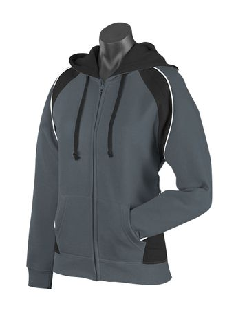 LADY PANORAMA ZIP HOOD SLATE/BLACK/WHITE 8