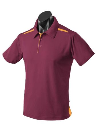 KIDS PATERSON POLO MAROON/GOLD 8