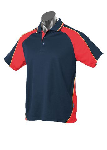 KIDS PANORAMA POLO NAVY/RED/GOLD 8