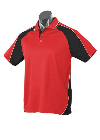 KIDS PANORAMA POLO RED/BLACK/WHITE 8
