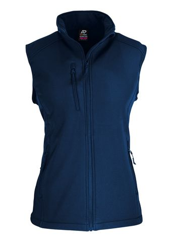 LADY OLYMPUS S/SHELL VEST NAVY 10