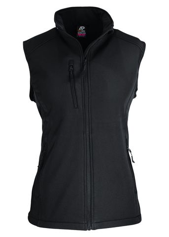 LADY OLYMPUS S/SHELL VEST BLACK 10