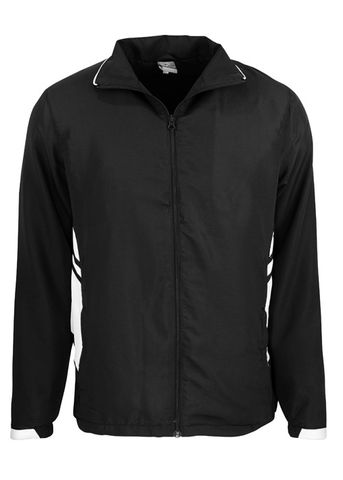 KIDS TASMAN TRACK TOP BLACK/WHITE 6