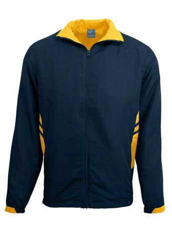 KIDS TASMAN TRACK TOP NAVY/GOLD 6