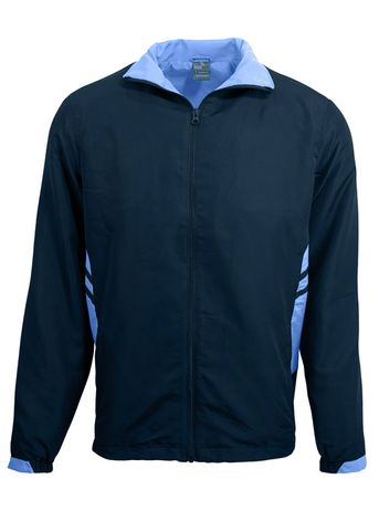 KIDS TASMAN TRACK TOP NAVY/SKY 6