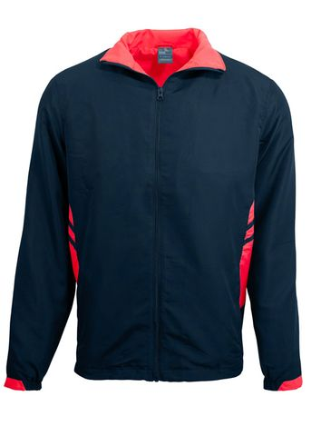 KIDS TASMAN TRACK TOP NAVY/RED 6