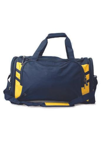 TASMAN SPORTS BAG NAVY/GOLD