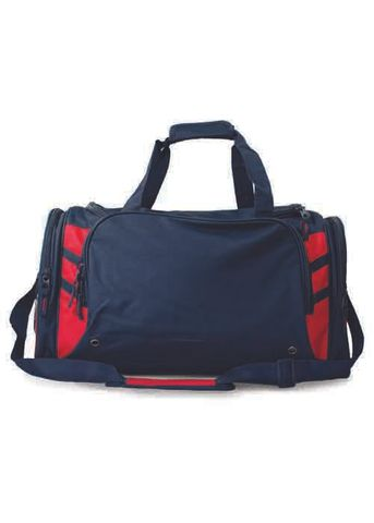 TASMAN SPORTS BAG NAVY/RED
