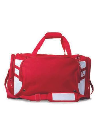 TASMAN SPORTS BAG RED/WHITE
