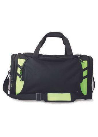 TASMAN SPORTS BAG BLACK/NEON GREEN