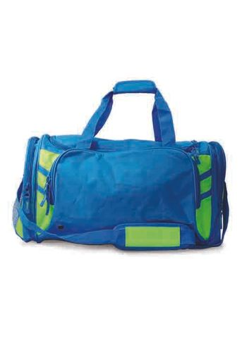 TASMAN SPORTS BAG CYAN/NEON GREEN