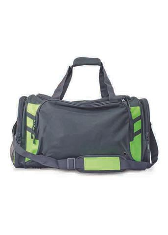 TASMAN SPORTS BAG SLATE/NEON GREEN