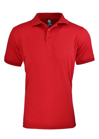 MENS LACHLAN POLO RUBY RED S