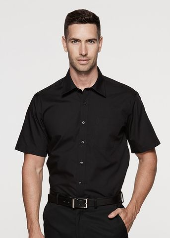 KINGSWOOD MENS SHIRT SHORT SLEEVE - 1910S