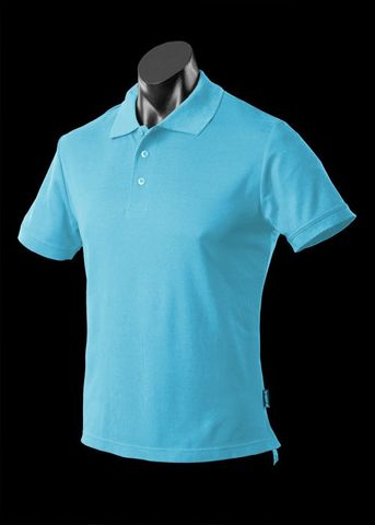 ** MENS REEF POLO BACH BLUE S